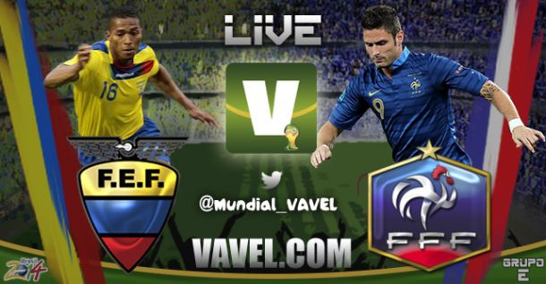 Live Ecuador - Francia, Mondiali 2014 in diretta