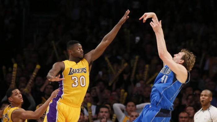 Nowitzki a fil di sirena porta i Mavericks alla vittoria sui Lakers