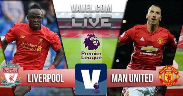 Liverpool - Manchester United in Premier League 2016/17 (0-0): finisce a reti bianche!