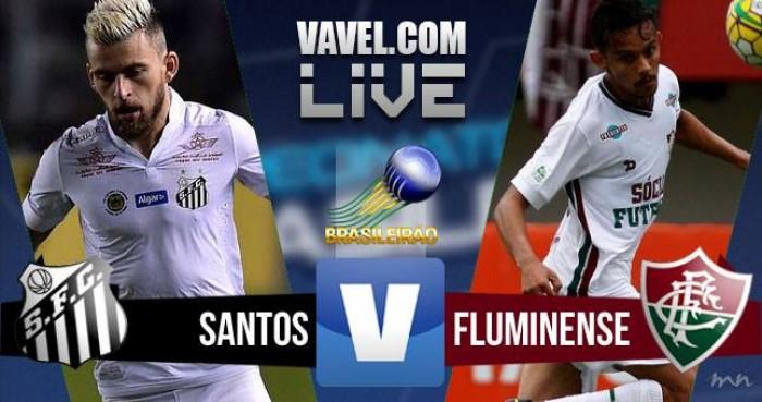 Jogo Santos x Fluminense no Brasileirão Série A 2016