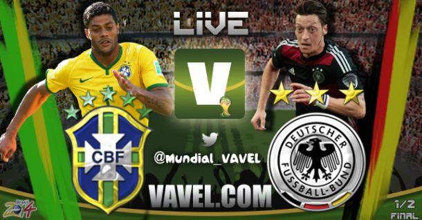 17e90c8436 Copa do Mundo 2014  Brasil x Alemanha minuto a minuto em tempo real ...