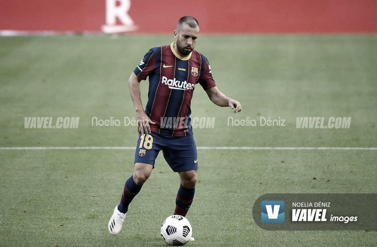 Jordi Alba iguala su mejor marca goleadora