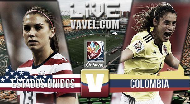 Resultado Colombia - Estados Unidos en Mundial Femenino 2015 (0-2)