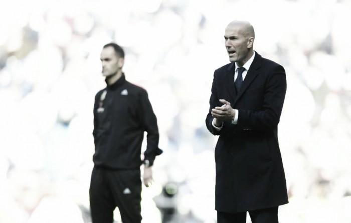 """Zidane minimiza vantagem e analisa jogo contra Atlético: """"Não nos dá segurança"""""""