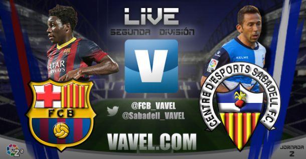Barcelona B - Sabadell en directo online