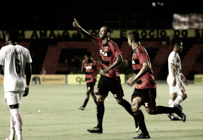 Leandro Pereira marca dois, Sport goleia Sete de Dourados e avança na Copa do Brasil