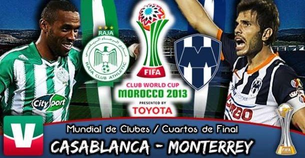 Resultado Raja Casablanca - Rayados de Monterrey en Mundial de Clubes 2013 (2-1)