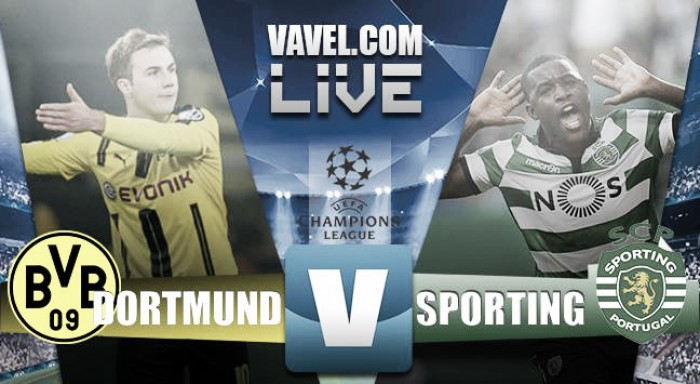 Borussia Dortmund - Sporting Lisbona (1-0) in Champions League 2016/2017. Dortmund primo