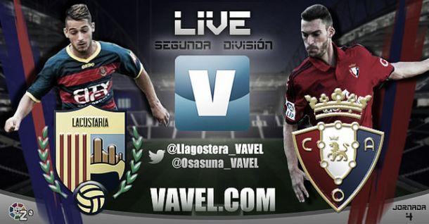 Resultado Llagostera - Osasuna en la Liga Adelante 2015 (0-2)
