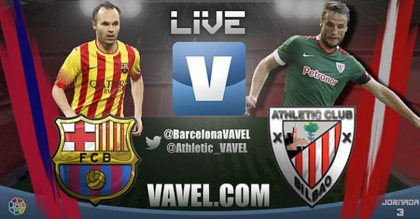 Live Liga BBVA : le match FC Barcelone vs Athletic Bilbao en direct