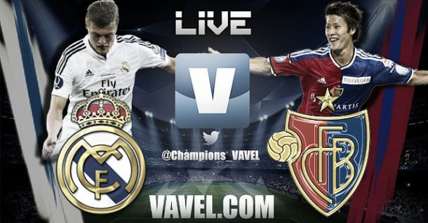 Live Champions League : le match Real Madrid - FC Bâle en direct