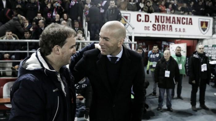 Zidane mostra satisfação após importante resultado na Copa do Rei