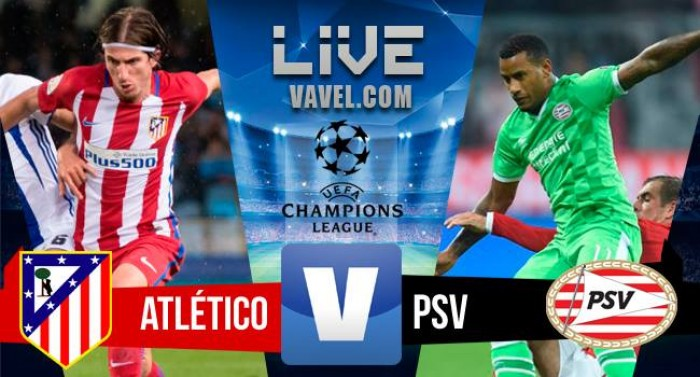 Atletico Madrid - PSV in UEFA Champions League 2016/17 (2-0): Atletico primo nel girone!