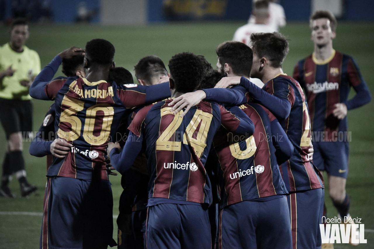 Resumen Barcelona B vs Alcoyano en Segunda B (2-1)