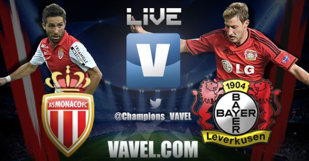 Monaco vs Leverkusen: Live Stream and Football Scores of the Champions League 2014