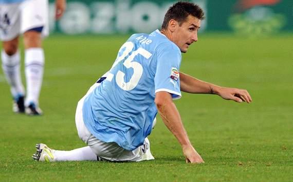 El Lazio pierde a Klose en el momento decisivo de la temporada