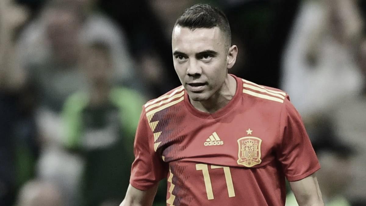 Aspas con la Selección Española. | Foto: @sefutbol.