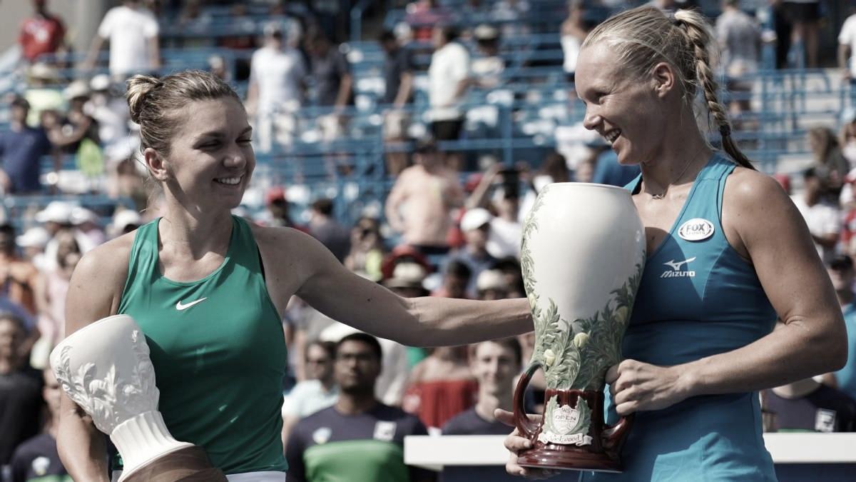 Simona Halep y Kiki Bertens en su último duelo | Foto: WTA