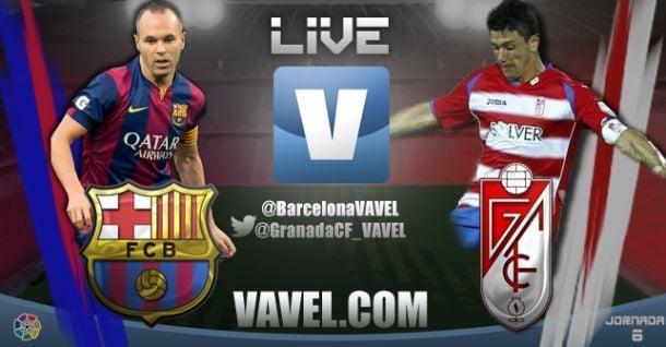 Live Liga BBVA : le match FC Barcelone - Grenade en direct