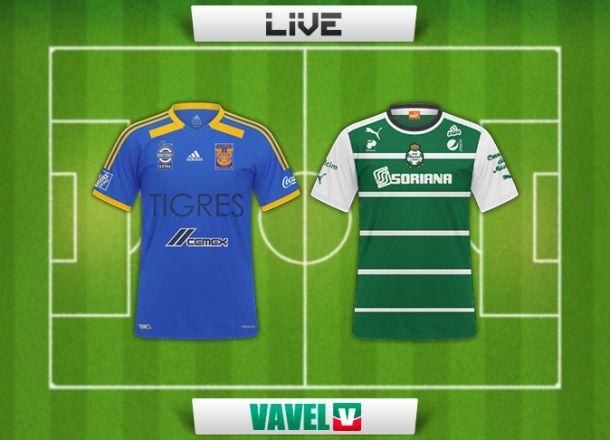 Resultado Tigres - Santos en Liga MX 2014 (1-1)