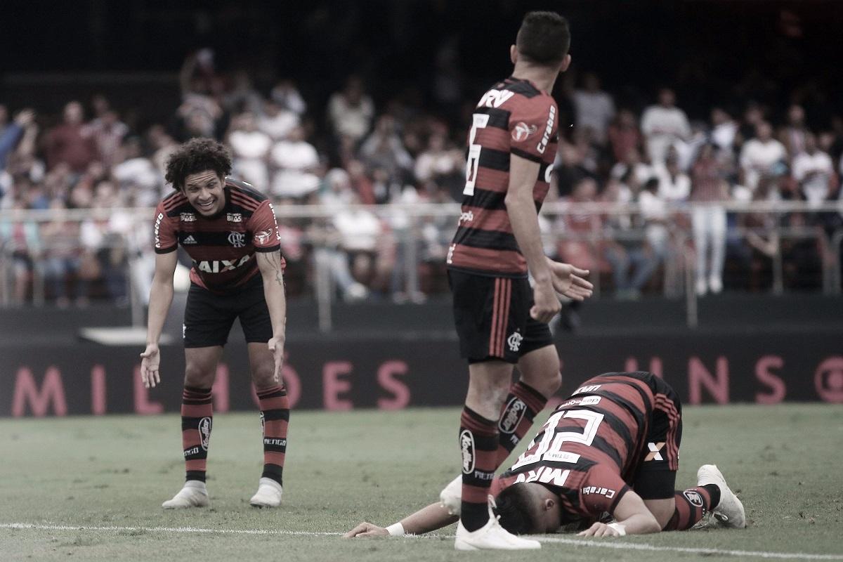 Além da derrota no clássico, Flamengo perde três titulares para o confronto contra o Santos