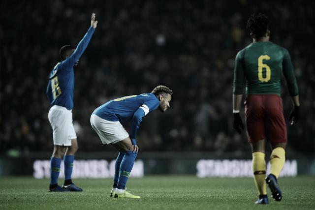 """Neymar será reavaliado, mas Lasmar descarta lesão grave: """"Desconforto na virilha direita"""""""