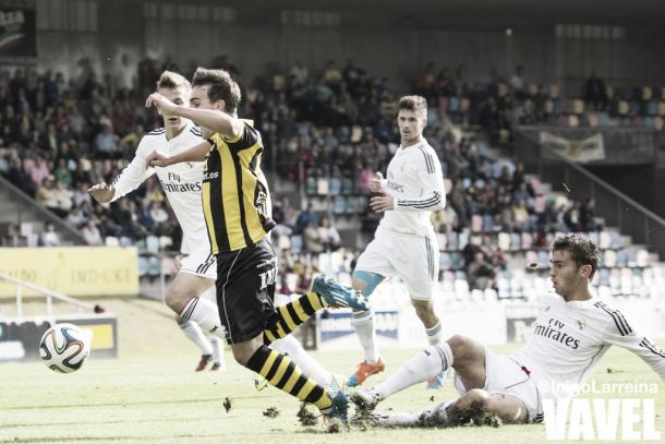 Resultado Real Madrid Castilla - Real Unión de Irún en la Segunda División B 2015 (0-1)