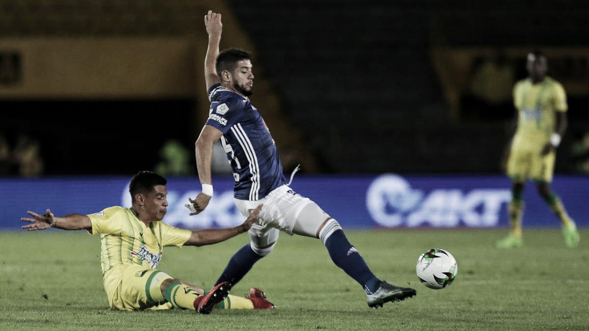 Millonarios doblegó al Atlético Bucaramanga en Bogotá