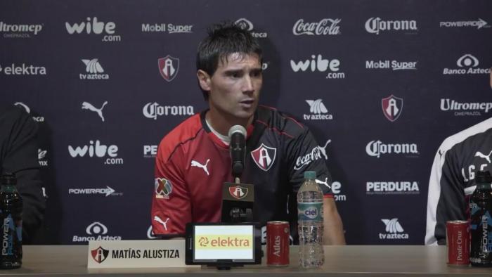 Matías Alustiza fue presentado con el equipo de Atlas