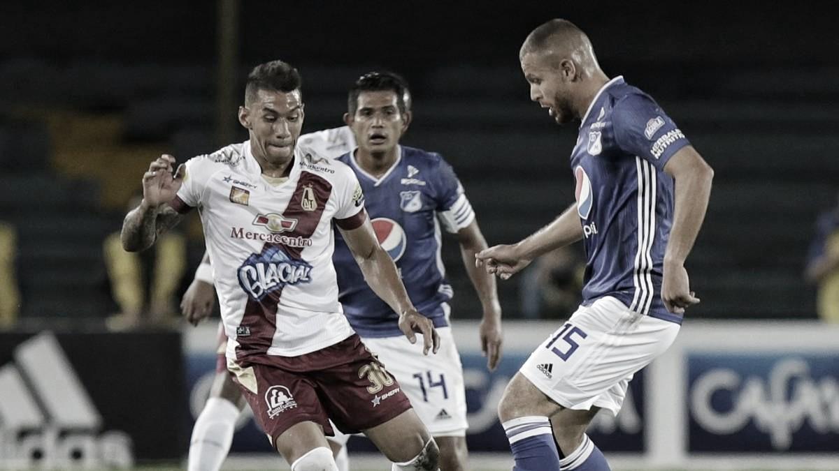 Millonarios y un pequeño tropiezo: perdió con Deportes Tolima en El Campín