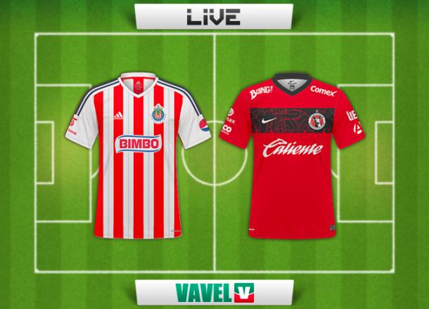 Resultado Chivas de Guadalajara - Xolos de Tijuana Jornada 14 Liga MX (3-3)