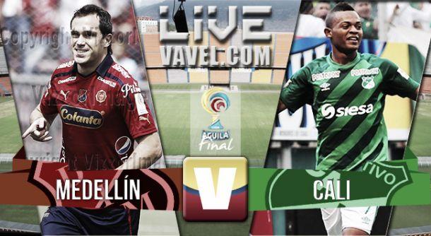 Resultado Medellín - Cali en final Liga Águila 2015-I (1-1)