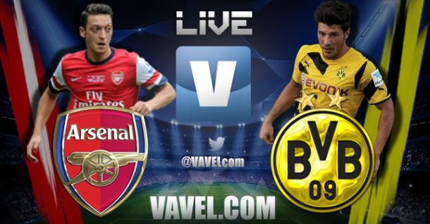 Match Result Arsenal - Borussia Dortmund Live Commentary and UCL Scores 2014 | VAVEL.com