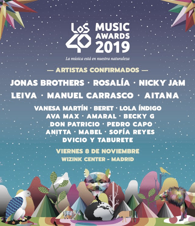 Los artistas confirmados para 'Los40 Music Awards 2019'