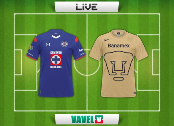 Resultado Cruz Azul - Pumas en Liga MX 2014 (0-2)