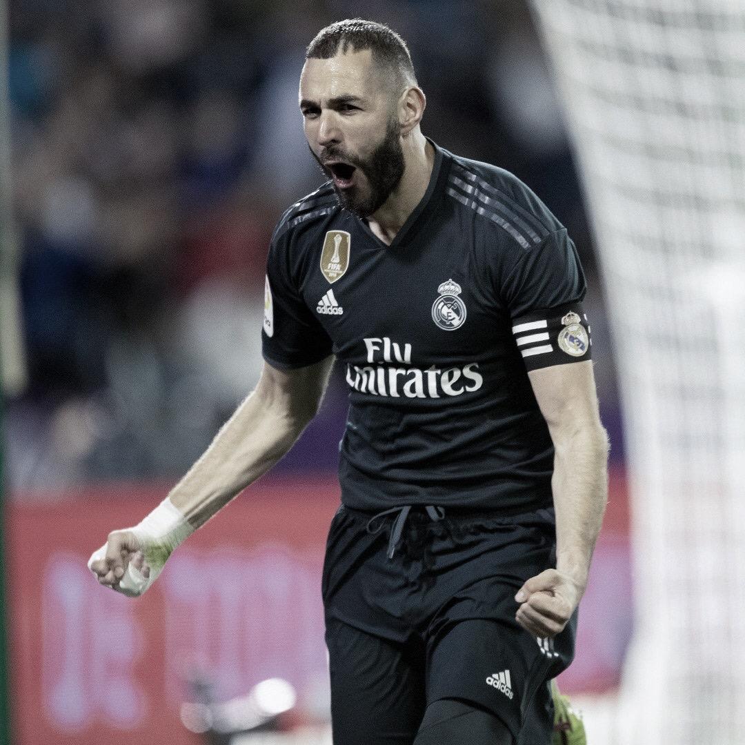 Com dois gols de Benzema, Real Madrid derrotaValladolid pela La Liga