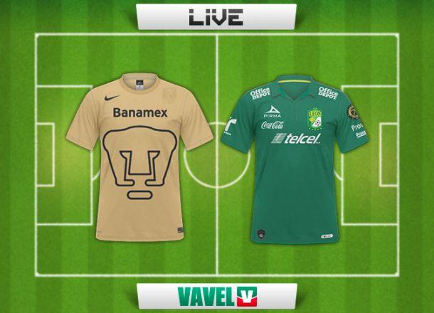 Resultado Pumas - León en Liga MX 2015 (1-3)