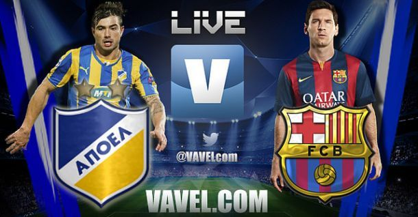 Live Champions League : le match APOEL Nicosie - FC Barcelone en direct
