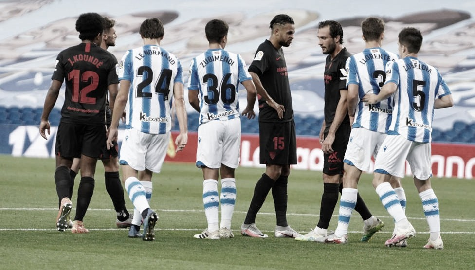 Precedentes ligueros de la Real Sociedad ante el Sevilla FC