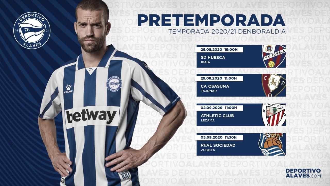 Modificaciones en los compromisos de pretemporada del Deportivo Alavés
