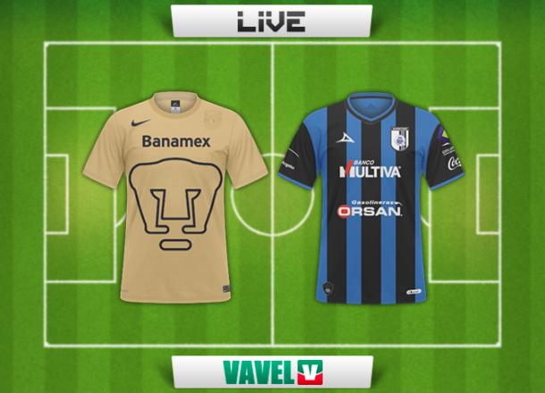 Resultado Pumas - Querétaro en la Liga MX 2015 (1-1)