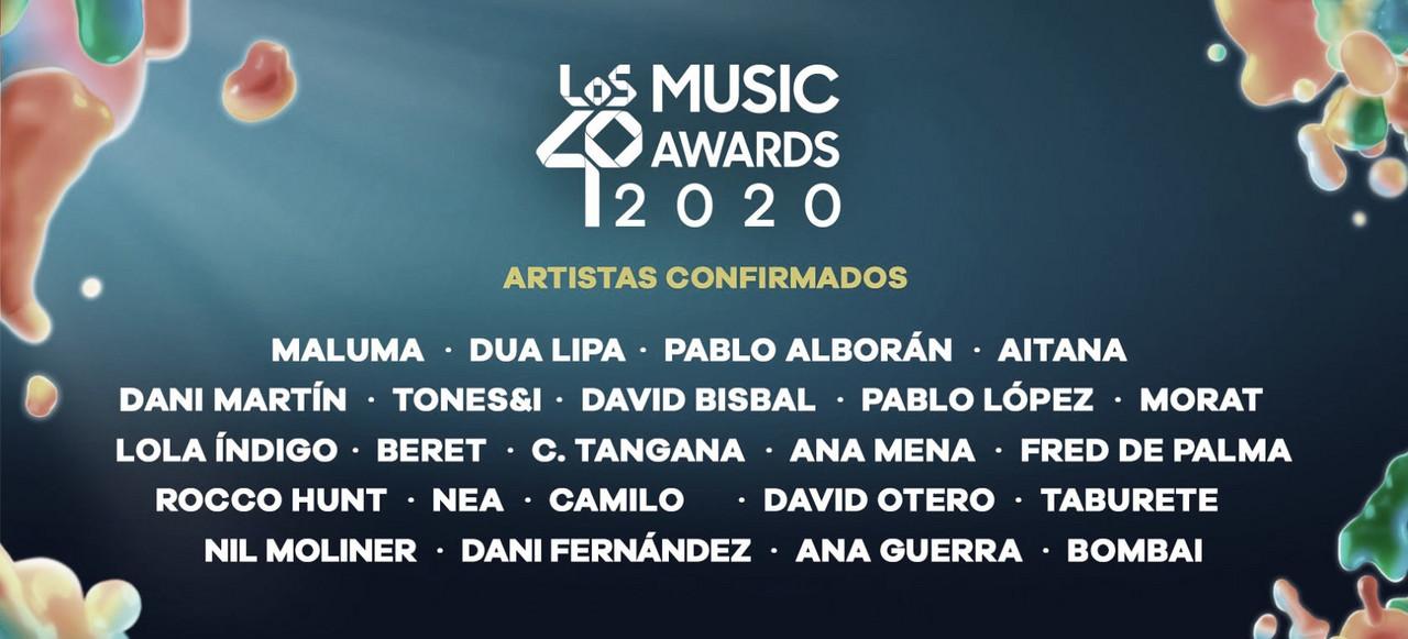 Los 40 anuncia a los artistas que actuarán en Los 40 Music Awards 2020