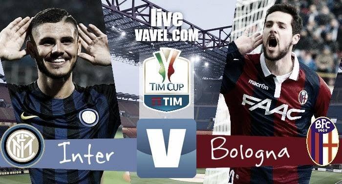 Inter - Bologna (3-2) in Coppa Italia 2016/17. Inter ai quarti!