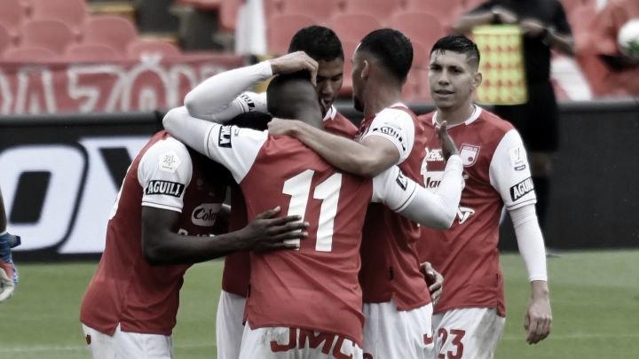 Santa Fe sumó su cuarta victoria en línea ante Bucaramanga