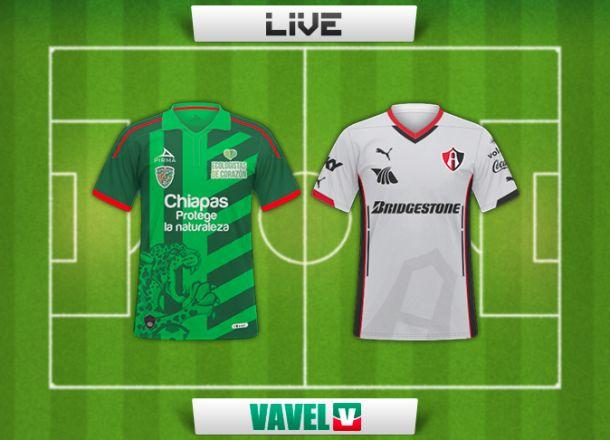 Resultado Chiapas - Atlas en Liga MX 2015 (3-1)