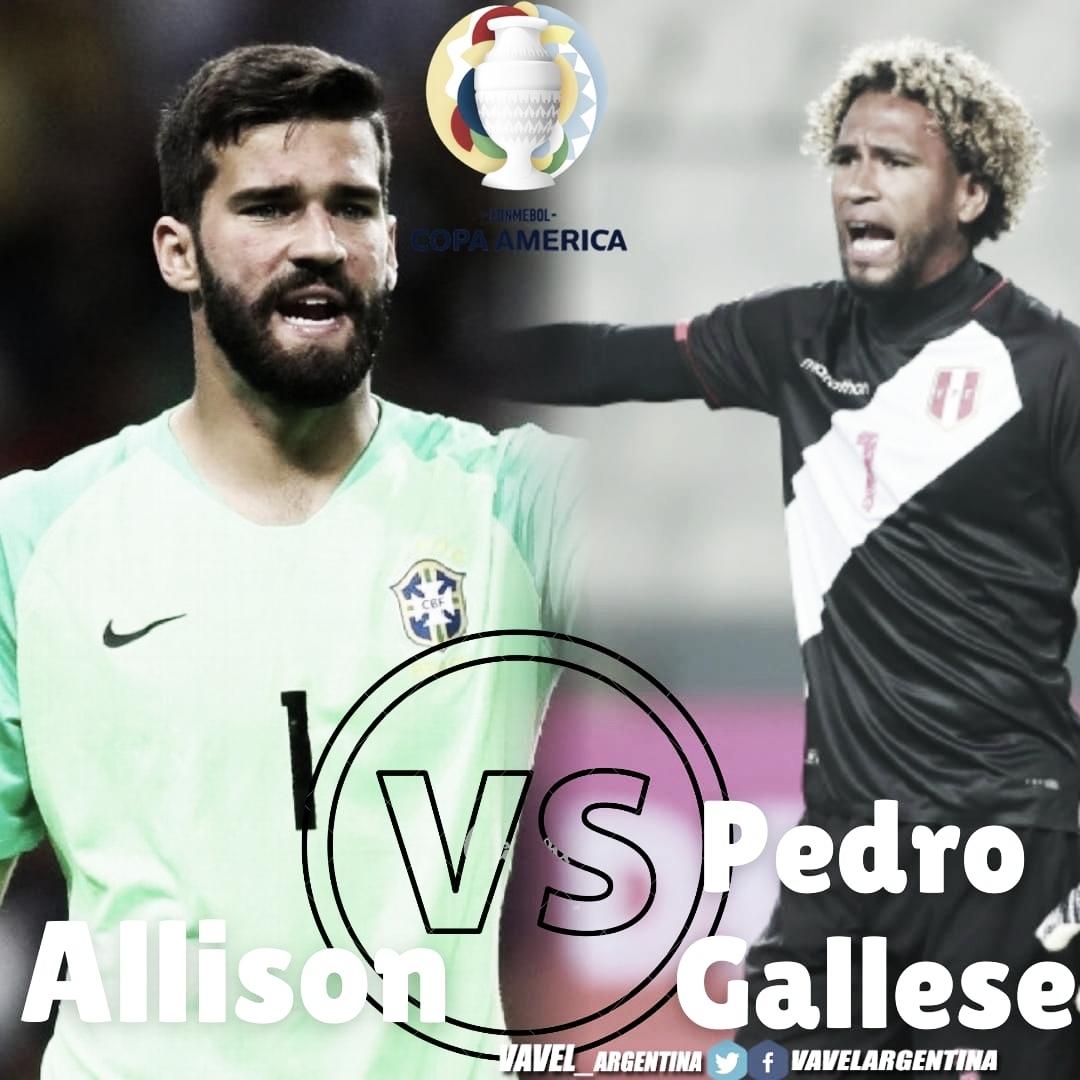 Cara a cara: Pedro Gallese vs Alisson Becker