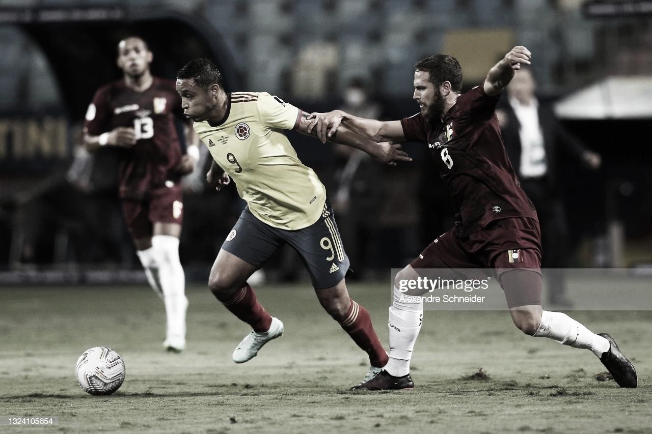 Colombia y Venezuela firmaron el empate a cero goles en Copa América