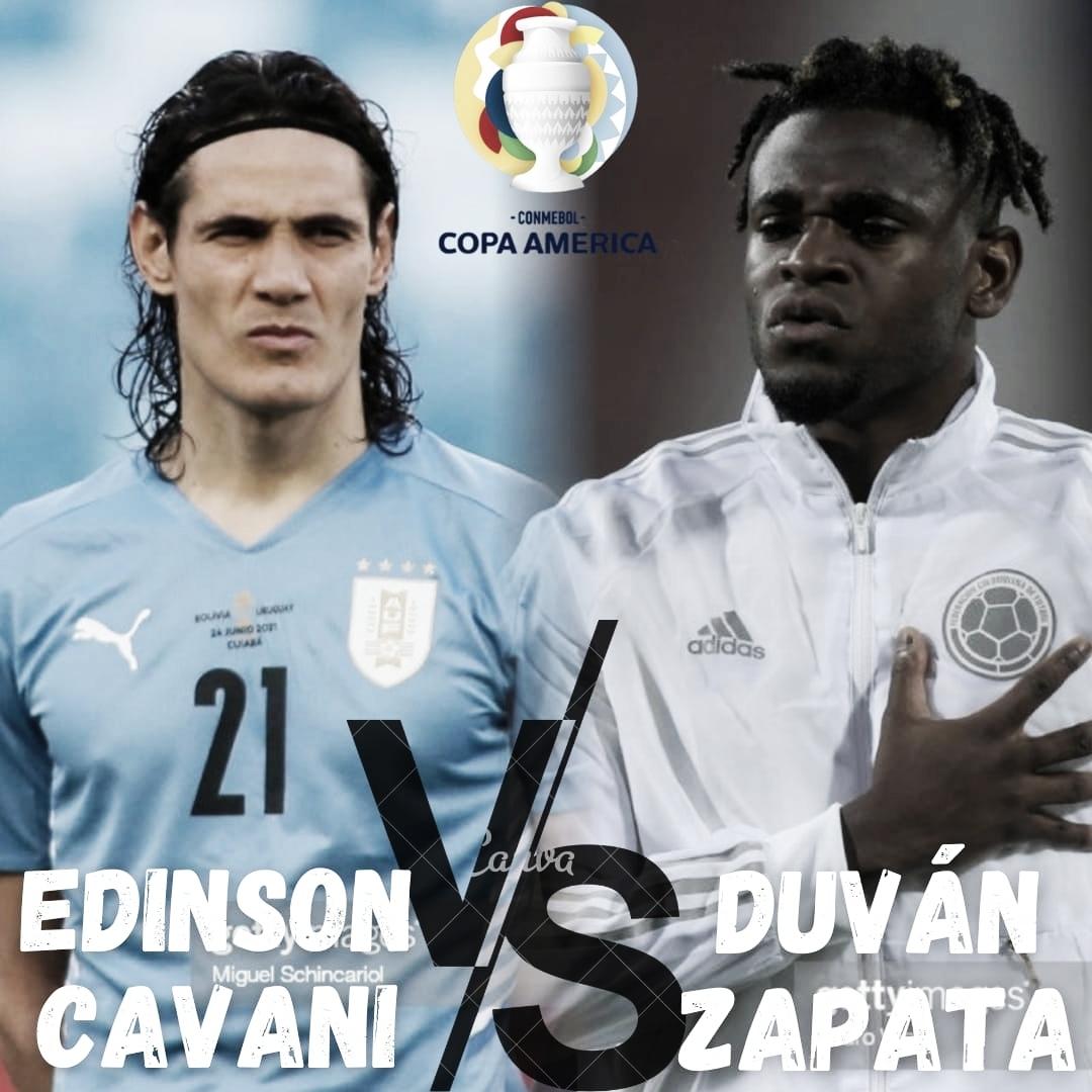 Cara a Cara: Edinson Cavani vs. Duván Zapata