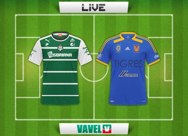 Resultado Santos - Tigres en la Liga MX 2015 (2-2)