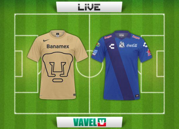 Resultado Pumas - Puebla en la Liga MX 2015 (2-1)